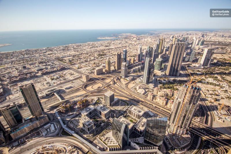 Dubaï vue  sur la ville depuis le 125ième étage