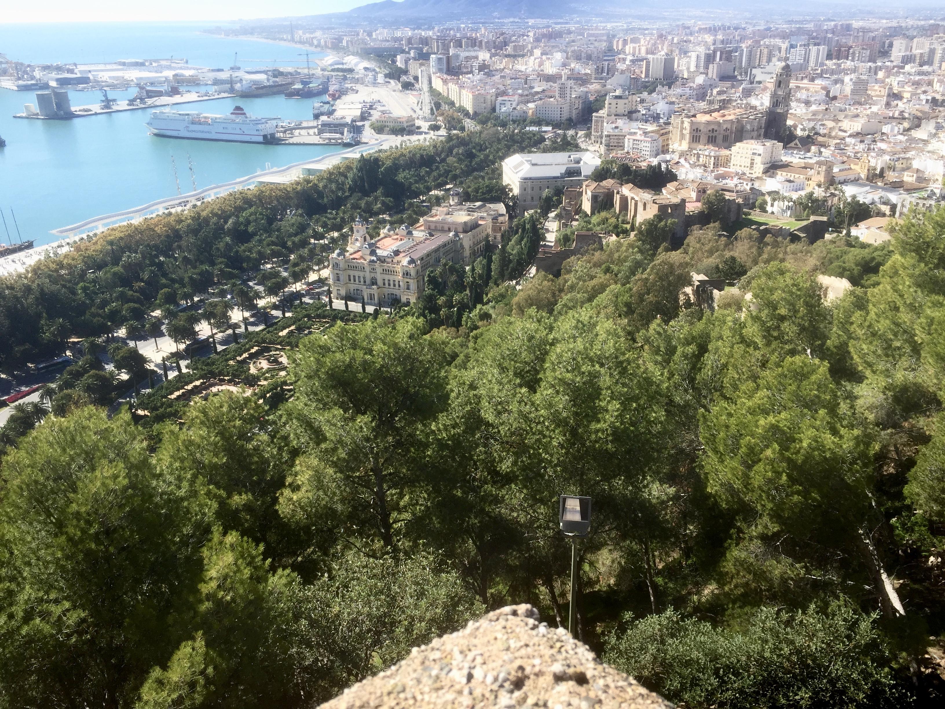 Vue sur Malaga depuis le Château du Gibralfaro