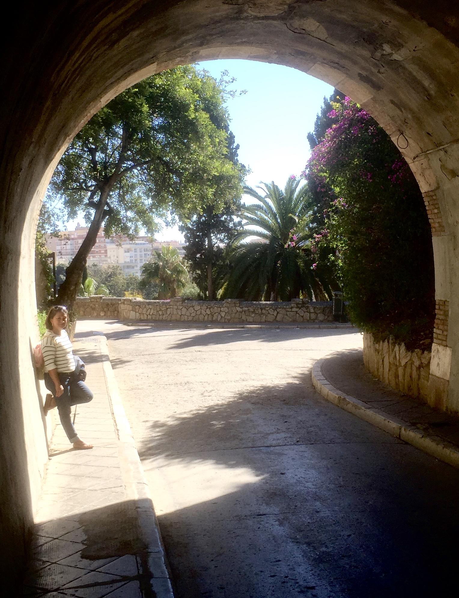 Tunnel sous l'Alcazaba