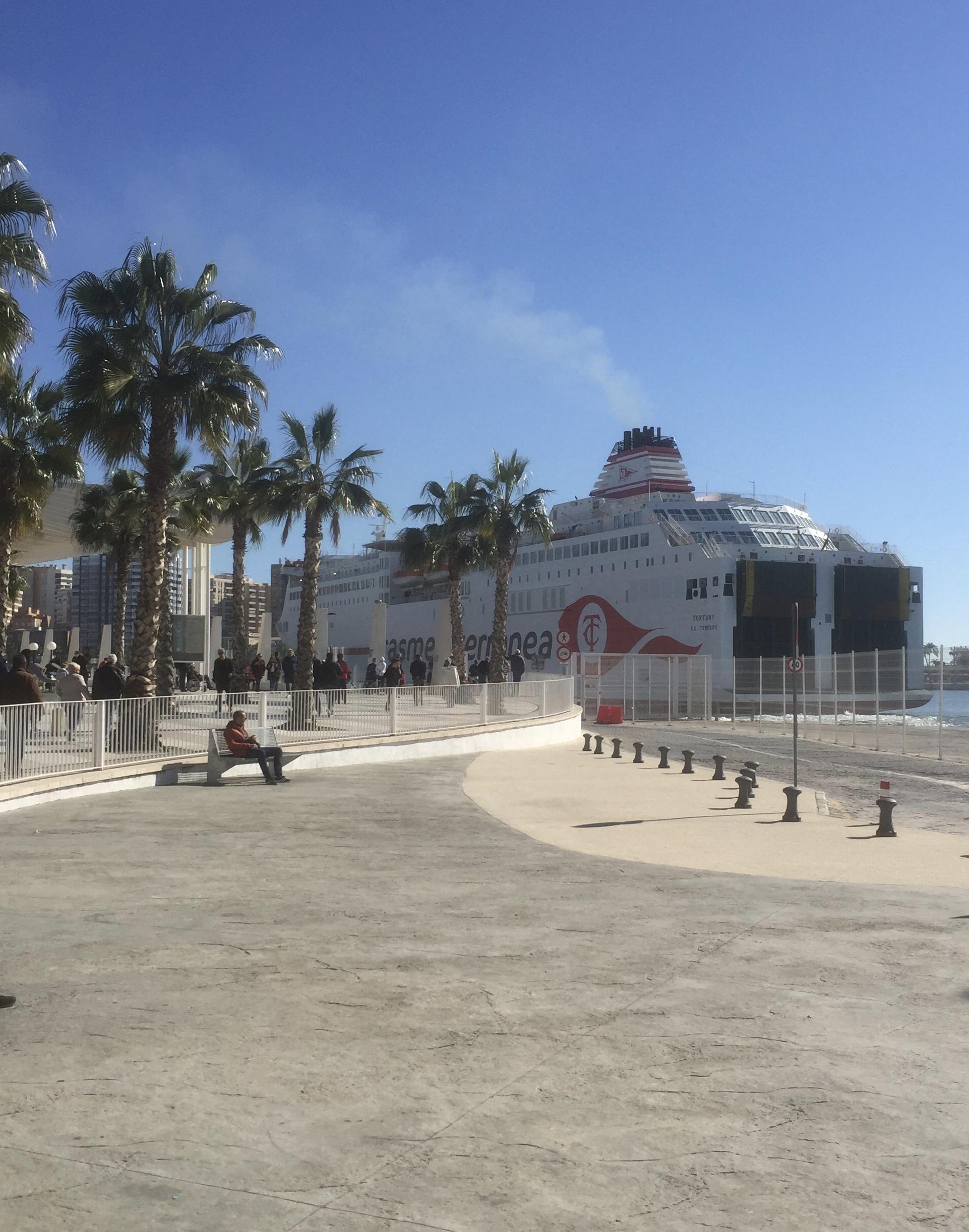 Départ du ferry pour Tenerife