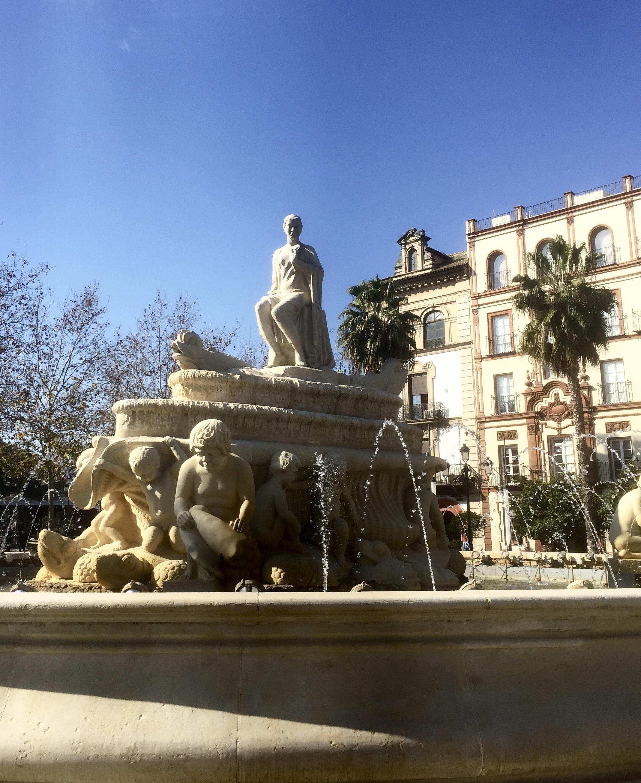 Une des nombreuses fontaines de la ville !