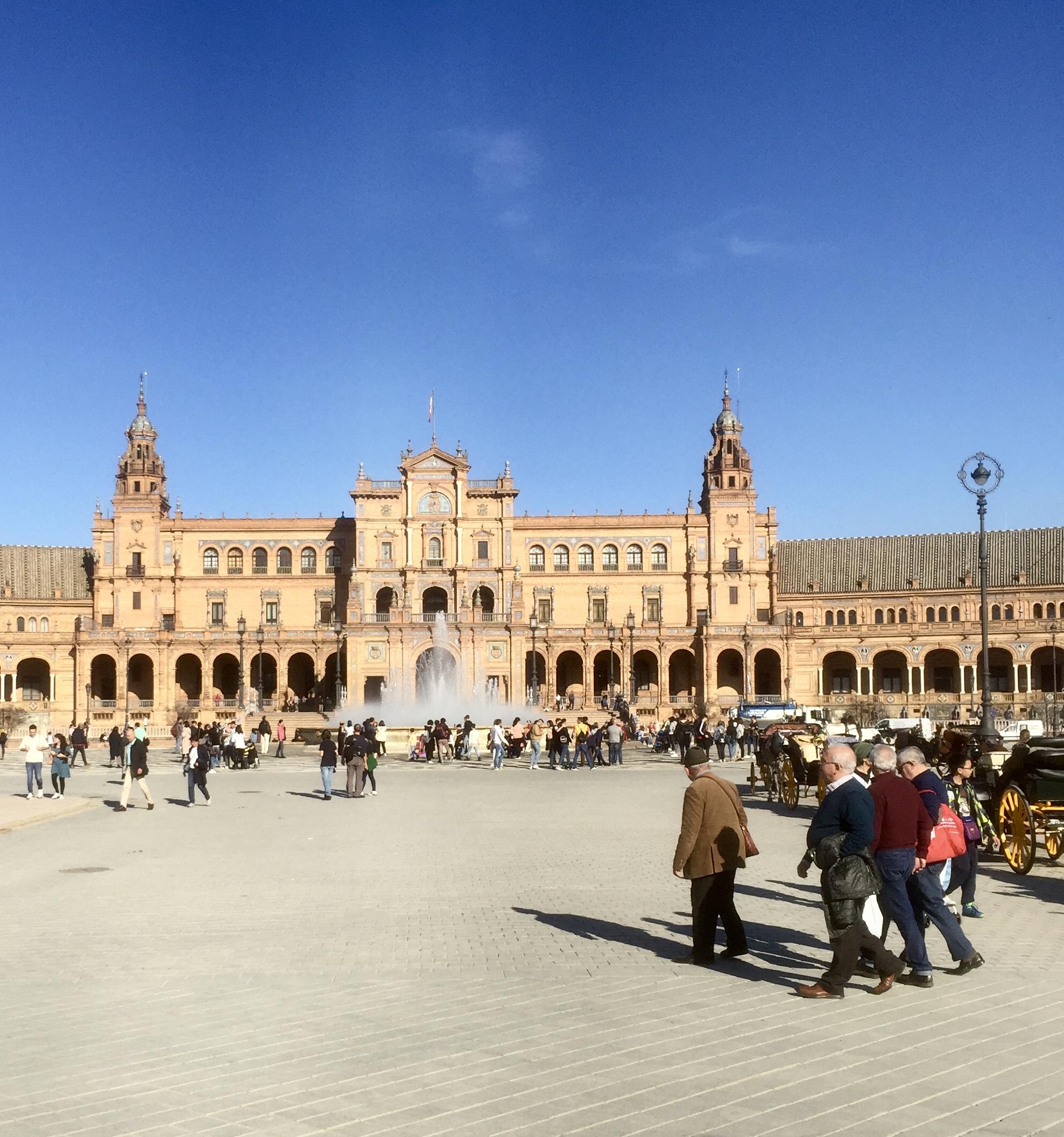 La place d'Espagne et le Palais