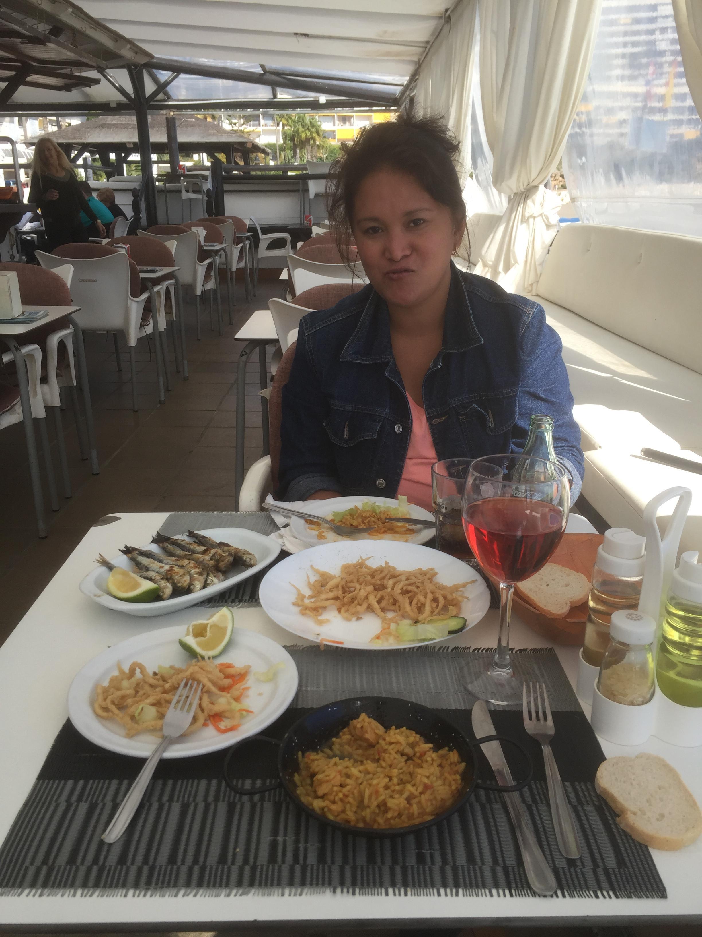 Pause lunch à La Carihuela