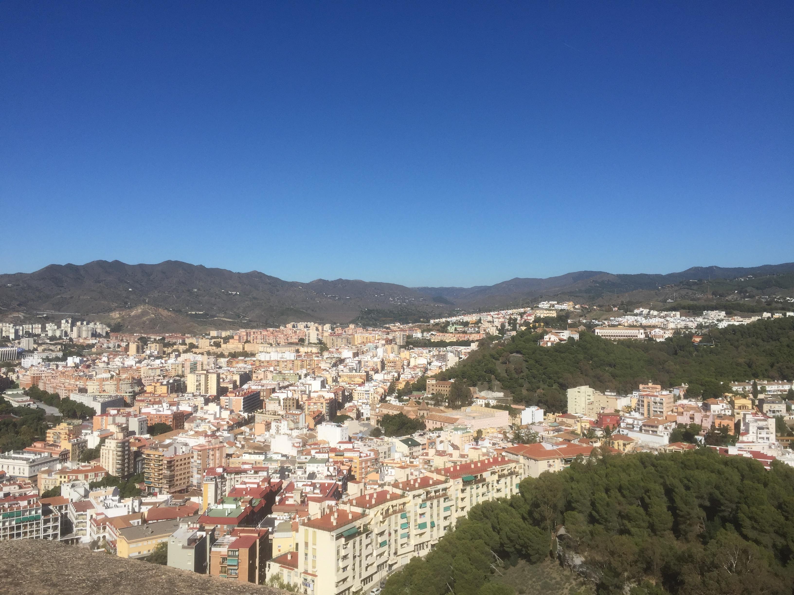 Vue sur Malaga depuis Gibralfaro