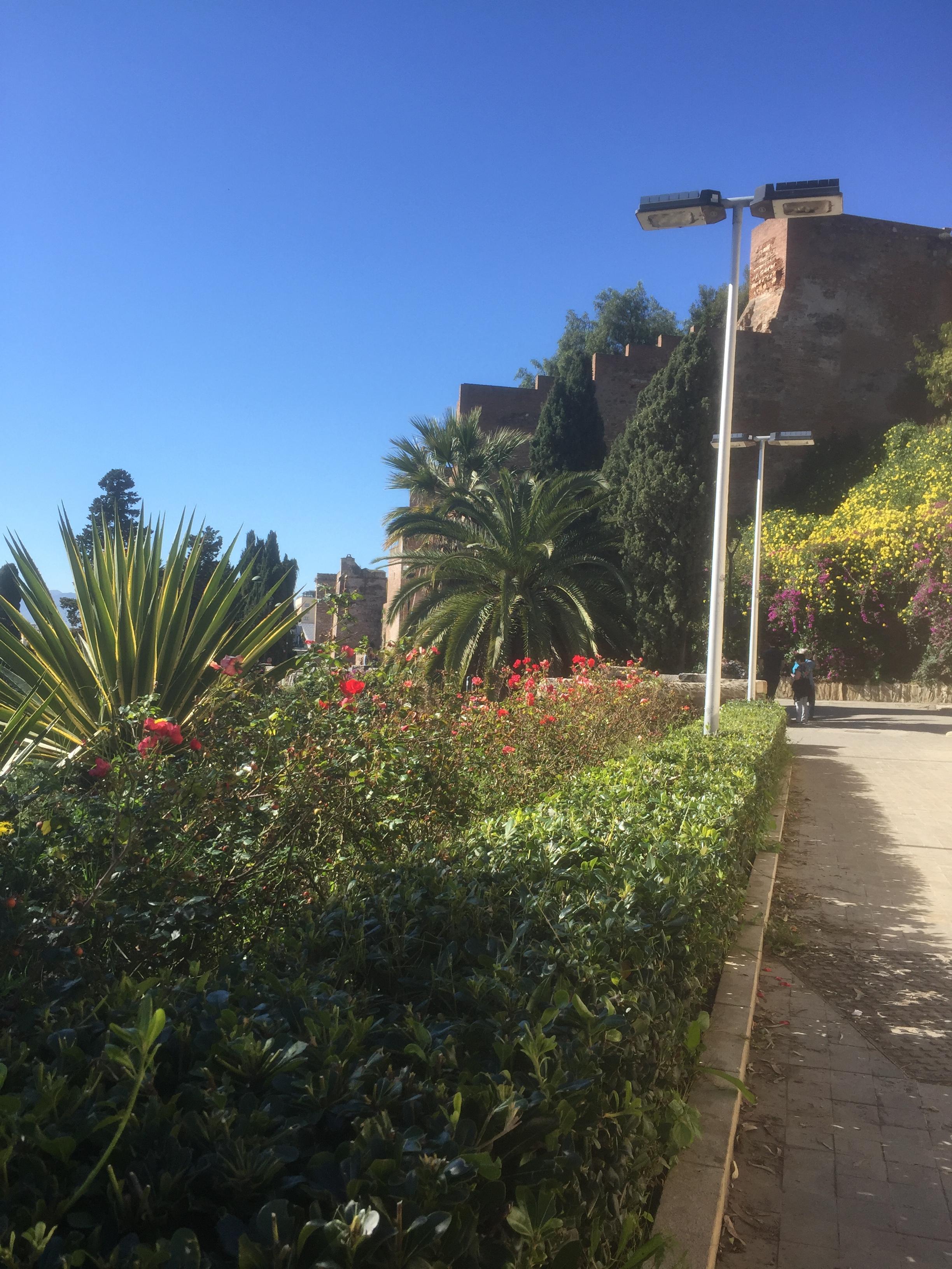 En montant vers Alcazaba