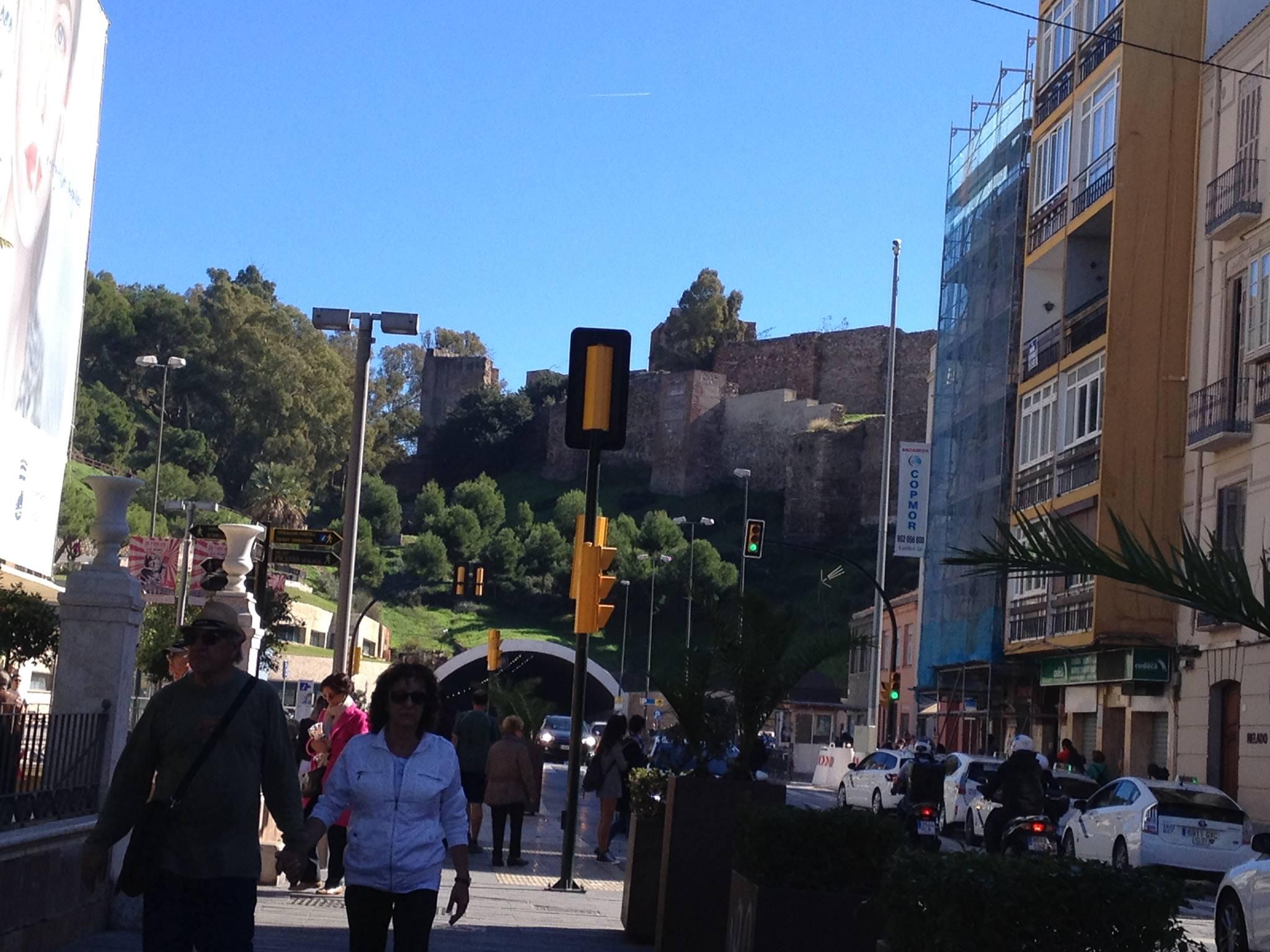 L'Alcazaba vu depuis le centre-ville