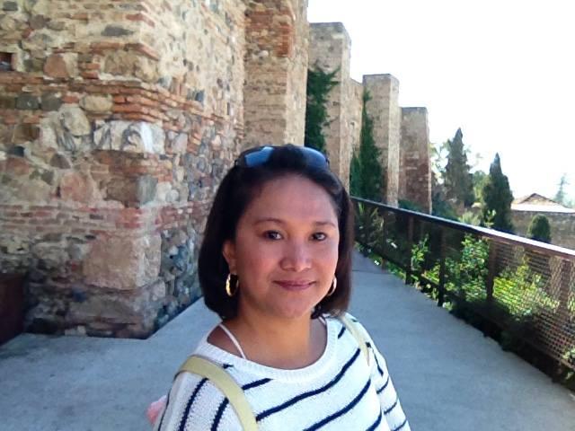 Devant l'Alcazaba
