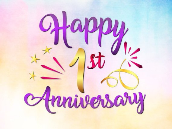 A happy 1st anniversary svg file for cricut wedding first one year lettering