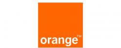 A orange logo