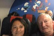 BONUS : A bord d'un avion de quelle compagnie aérienne a été pris ce selfie ?
